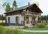 Проект комбинированного дома КД-183, 9х12 м