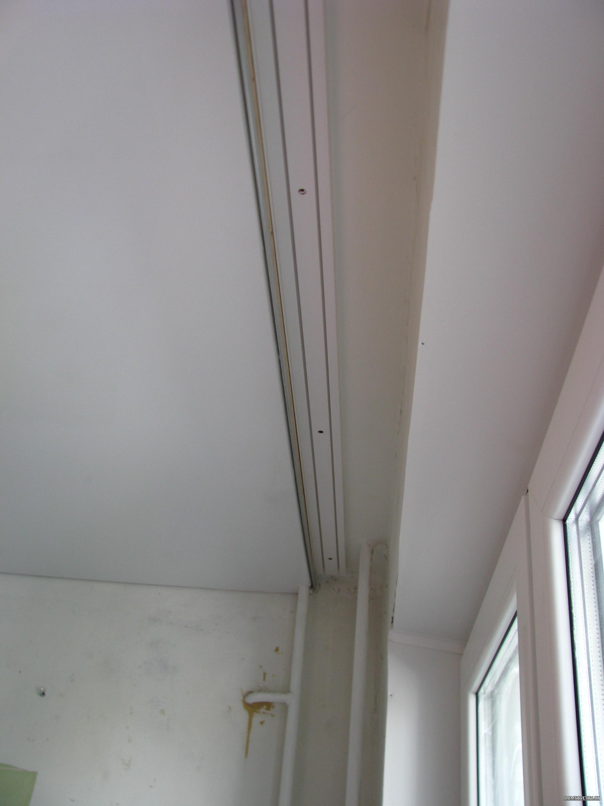 Как сделать нишу для штор в натяжном потолке своими руками 10