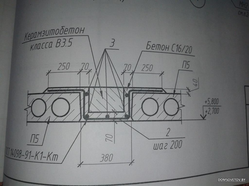 армированиеплоского монолитного фундамента схема