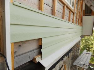 Фронтон деревянного дома из сайдинга своими руками 745