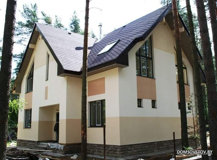 Фасады домов фото короед цвета