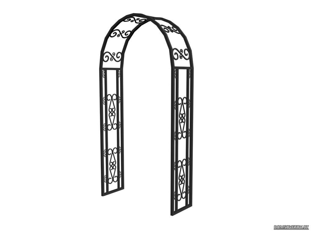 Как мне сделать арка из профильной трубы своими руками 34