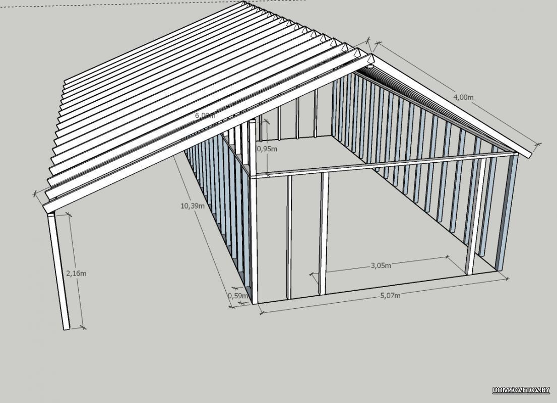 Бетонный гараж построить